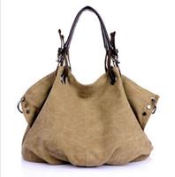 Wholesale Fashionable High quality women ladies weekend bag vintage canvas bag shopping travel shoulder tote messenger bag handbag bolsas