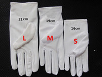 Wholesale 3 size Kid child flower girl short student white gloves unisex dancing performance gymnastics glove