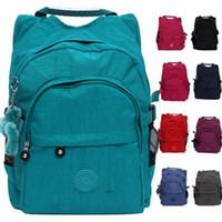 Wholesale Vintage soild color printing backpacks child girl school bags men amp women sport zipper backpack children mochila