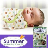 Wholesale diapers Swaddleme summer organic cotton infant parisarc newborn thin baby wrap envelope swaddling swaddle me Sleep bag Sleepsack