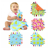 baby product fleece blanket - Colorful lable Design Baby Appease Towel Infant Blanket Soft Coral Fleece Reassure Towel Baby Care Products Newborn Toys