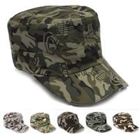 Wholesale 5 Colors Unisex Fashionable Men Women Sun Visor Army Camouflage Military Soldier Combat Hat Sport Cap