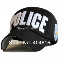 Wholesale Top quality adult popular D Embroidery letter POLICE women and men baseball caps cm