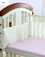 baby mesh bumper - New Baby Breathable Mesh Crib Bumper Baby Bedding Crib Liner Baby Bedding Bumpers Bed Around Baby Cot Sets