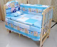 Wholesale 2015 lovely baby crib bedding set cotton material jogo de cama crib bumper included