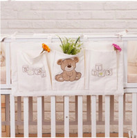 Wholesale Best Sale Baby s Crib Storage Bag Cotton Toys Diapers Bags Folding Storage Bags For Baby s Cot Infant Cute Hanging