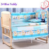 bassinet set - Hot CM Baby Bedding Sets Include Pillow Bumpers Mattress Mickey Minnie Mouse Baby Cot Bedclothes Decoration In Set