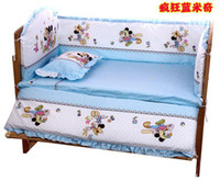 baby crib bumper pads - CM Mickey Mouse bed around baby bed around pillow pad mattresses crib bumper bumper matress pillow