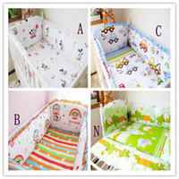 bassinet safety - Newborn Baby Bed Set Both Safety and Healthy Kids Accessory Contain Bumper Cover Bumper Filler and Sheet Crib Bedding Sets Sale
