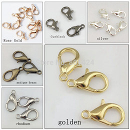 Wholesale 12mm zinc alloy lobster clasp parrot clasps hook silver gold antique bronze rhodium claw clasp