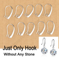 Wholesale 24Hours Silver Jewelry Findings Sterling Silver Earring Pinch Hooks Earwire For Crystal Pearl