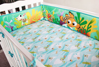 baby bedding world - New The undersea world pattern baby bedding sets Items quilt bumper mattress cover bedskirt nappy bag Nemo