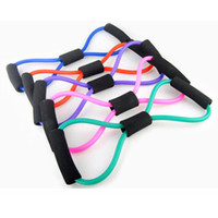 Wholesale 8 Types Sports Accessories Resistance Bands Stretch Tube Fitness Workout Exercise For Yoga Training Sport