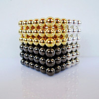 Wholesale mm buckyballs neocube magnet puzzle at round tin box colors mixed
