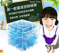 activity cube - Three dimensional magic cube maze labyrinth rolling ball balance game activity toy unique new design