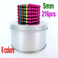 Wholesale mm buckyballs neocube magnet puzzle at round tin box multicolor