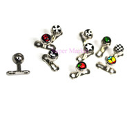 anchor logos - New Arrival Mixed Logos Retainers Hidden Head Body Piercing Jewelry Cool l Surgical steel G Dermal Anchor Base Parts