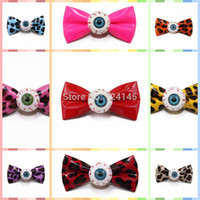Hairpins Novelty Women 1 pcs Funny Eyeball Bow Hair Clip Horror Goth Hairpin Cosplay Photo Props for Halloween Party Accessories