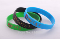 batman pc games - DOTA logo wristband Dota2 printed band Game Silicone Jewelry