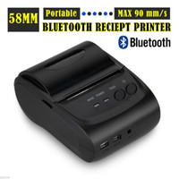 Wholesale 2 inches ZJ LD mini portable Android Bluetooth port thermal Receipt printer