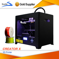 Cheap Frees shipping Extruder 3D Printer FlashForge Creator X Metal Desktop 3d Printer Work With ABS and PLA