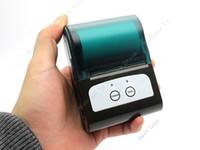 venda por atacado portable printer-Frete Grátis! Linha sem fio portátil Mini Bluetooth da impressora térmica para Apple iOS / Android