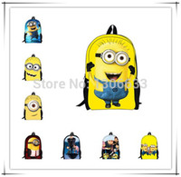 Wholesale New Design Yellow Children School Bags Kids Cartoon Despicable Me Minion Students Bag Fashion Boys Gifts Minions Bookbags