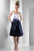 Simple design tight waist sheath knee-length Bridesmaid Dresses bridal prom formal party dress 61