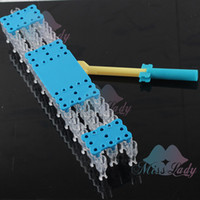 Wholesale set Top Quality Original Creative DIY Gifts Rubber Loom and Hook DIY Loom for Rubber Silicone Bands Jewelry Tools