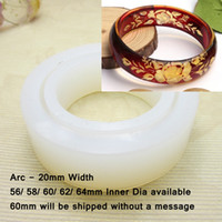 arc mold - 20mm Width mm Dia Arc Translucence Silicone Bracelet Mould For Epoxy Resin Real Flower Herbarium Jewelry DIY Mold QM011
