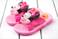 best kids sandals - Best Selling Kids Sandals Mickey Minnie Mouse Cartoon Boys Girls Slippers Children Unisex Summer Hole Beach Shoes