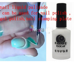 Wholesale New Nail Polish Finger Skin Protected Gel Nail Polish Liquid Palisade Skin Liquid Gel Used for The Stamp Esmalte Pink White N001