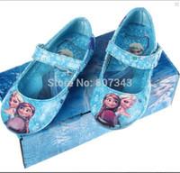 ballet flats children - New Vogue Blue Red Girls amp Kids Flats Shoes Princess Elsa Children Girls Shoes Girls Ballet Elsa Anna Shoes