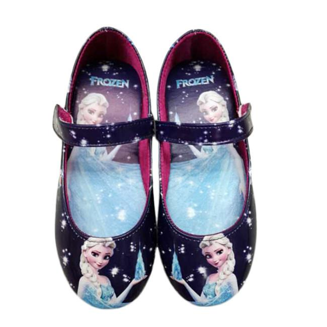 2015 Hot Sell Girls Frozen Shoes Frozen Shoes Blue Girls Flats Kids Children Shoes High Quality Princess Girls Shoes