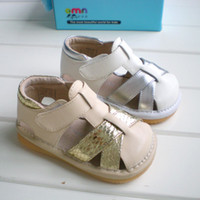 baby ni - 1 year old European dream ni new foreign trade children sandals colors Jiao Jiao sandals male and female baby sandals