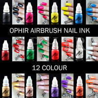 Wholesale OPHIR Airbrush Nail Inks for Nail Stencil Art Polishing ML Bottle Pigments Airbrush Nail Art Paint_TA098