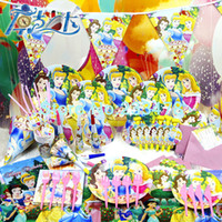 Wholesale 66pcs Kids Birthday Party Decoration Set Birthday Fashion Princesses Theme Party Supplies Baby Birthday Party Pack AW