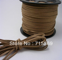 Wholesale Jewelry DIY Rope mm x1 mm Light Brown Yard M Faux Flat Suede Cord Lace Leather Cord