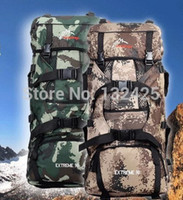 Wholesale New arrival outdoor mountaineering bag large capacity l Camouflage double backpack hiking camping travel backpack double