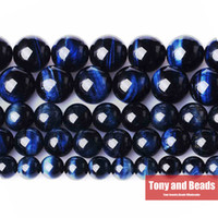 Wholesale Natural Stone Blue Lapis Lazuli Tiger Eye Agate Round Loose Beads quot Strand MM Pick Size TG1
