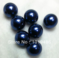 navy acrylic beads 20mm - mm Navy blue color Acrylic Pearl Beads Chunky beads Gumball Beads A66