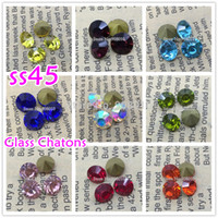 Cheap 72pcs lot ss45 pointed back Glass Crystal Chatons Beads Sun,AB More Colors Fancy Crystal Pointback For Jewelry,Hair Accessory