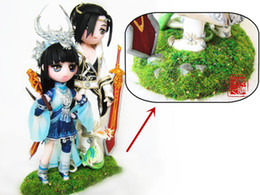 Wholesale ml case Model Grass Powder Decorative Green Fake Grass Clay Miniatures Simulation Model Art Craft Gift