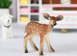 Wholesale miniatures animals deer cute fairy garden doll house terrarium gnome figurine home desktop decor diy m022