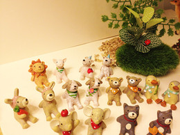 Wholesale-20 Pcs  miniatures animals puppy cute fairy garden doll house terrarium gnome figurine home table decor diy