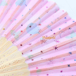 Wholesale-Chinese Bamboo Folding HAND FAN with Floral Flowers Wedding Party Gift 2015 New
