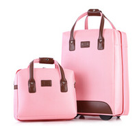 Wholesale women trolley luggage travel sets boarding password box female and inch twinset