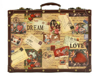 Wholesale Hot Vintage fashion Britain Cupid suitcase package travel bag luggage elegant luggage suitcase malas para viagem maleta