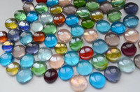 aquarium marbles - clear flat decorative glass marbles toy playing glass beads stones for vase fish aquarium decoration