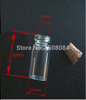 Wholesale of small glass vials with cork tops ml tiny bottles Little empty jars